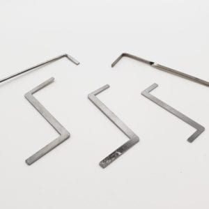 5 Tension Rod set for Lockpicking and Locksport