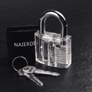 Large Clear Practice Lock with Cover