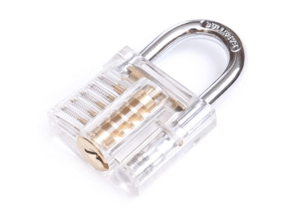 Small Clear Lock Closed