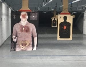 Modern Warrior Project T1 Static Threat Target at indoor range