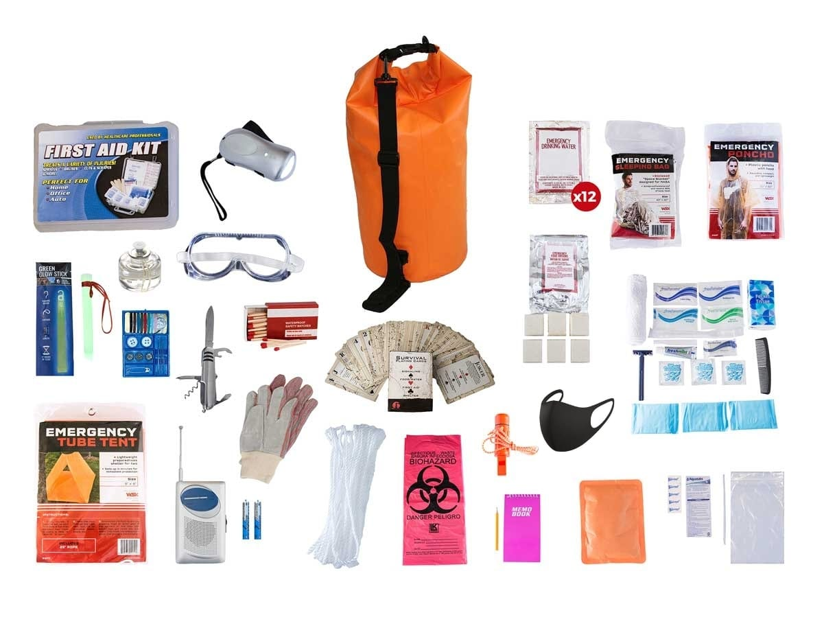One Person Elite 72 Hour Survival Kit in Quality Dry Bag