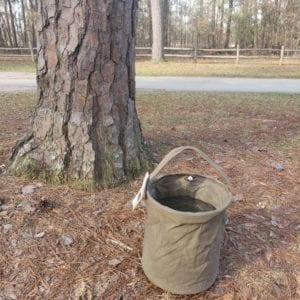 Canvas Water Bucket Large Outdoor Olive (3)